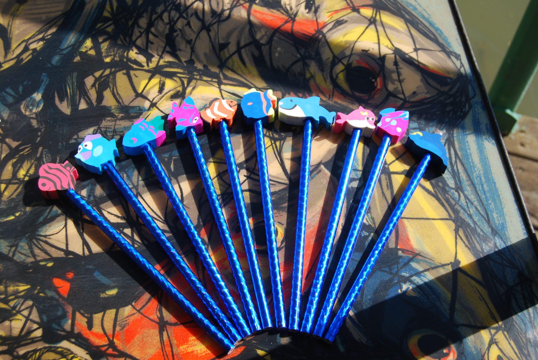 Crayon à papier poisson Image