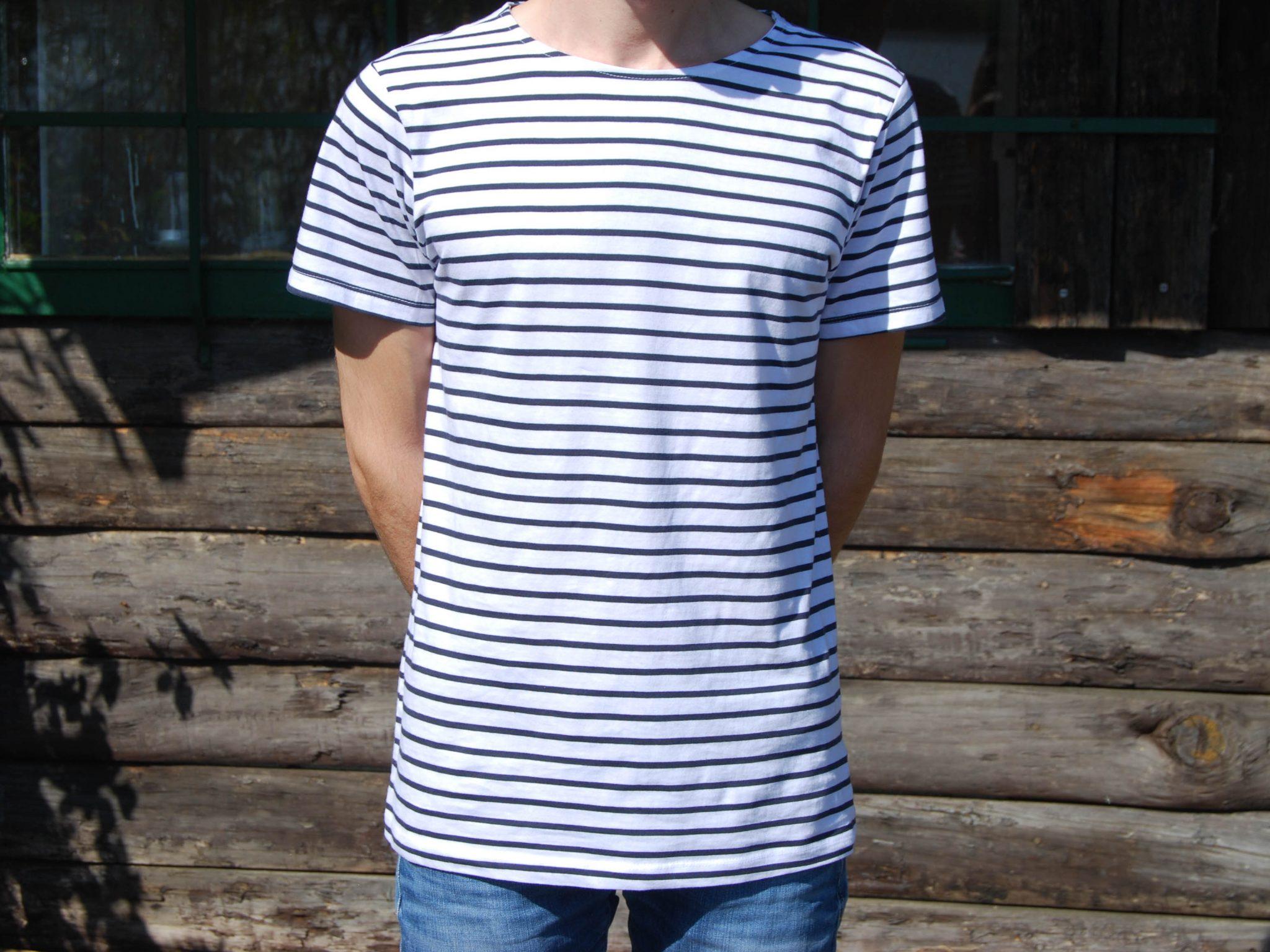 T-shirt rayé bleu et blanc - H/F Image