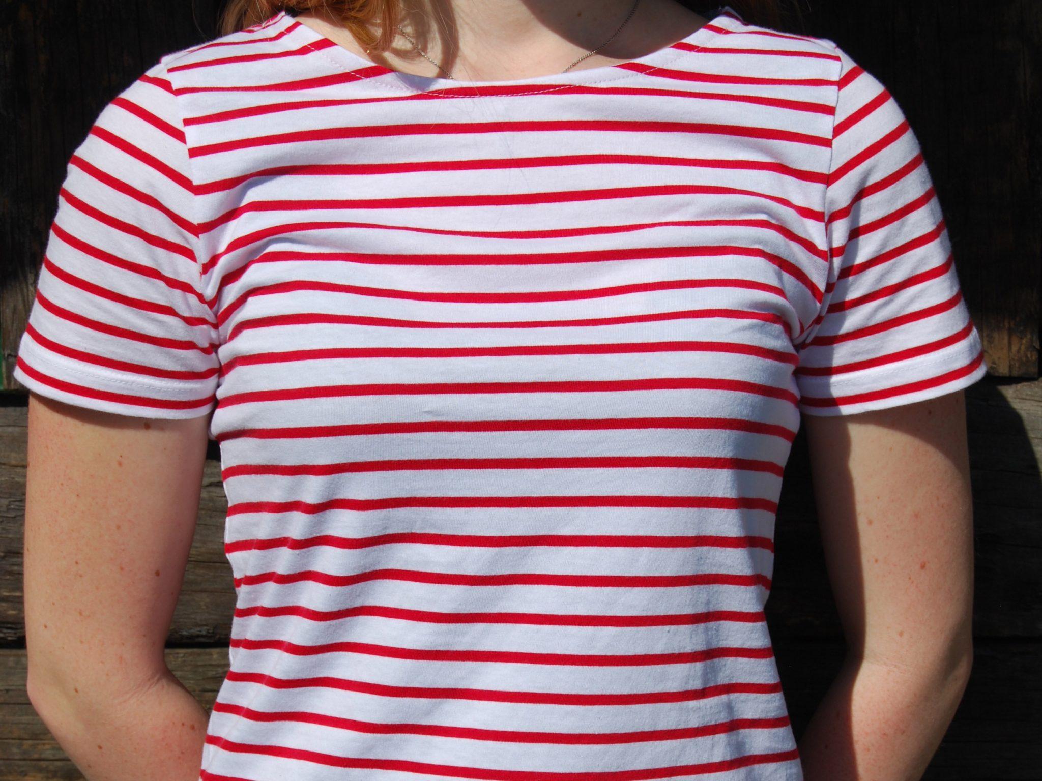 T-shirt rayé rouge et blanc - H/F Image