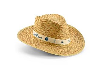 Chapeau de paille aux couleurs de la Fête Image